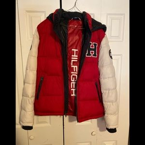 Authentic Tommy Hilfiger Varsity puffer. Worn once